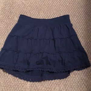 Navy blue Justice skirt